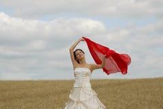 le för brudfält Royaltyfria Bilder