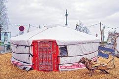 Le Fabuleux Village des Flottins with pavilion in Evian-les-Bain Stock Photography