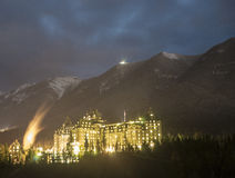Le Fairmont Banff Images libres de droits
