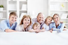 Le familj Royaltyfri Bild