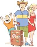 Le famille du touriste Image stock