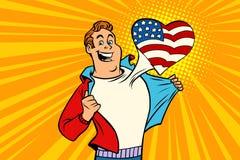 Le fan de sports aime les Etats-Unis illustration libre de droits