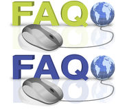 Le FAQ demandent à des questions l'aide en ligne illustration de vecteur