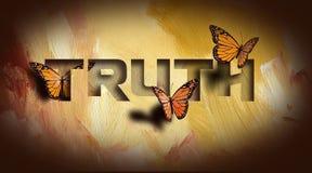 Le farfalle della regolazione della verità liberano Fotografia Stock