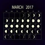 Le fasi lunari registano per 2017 procedere Illustrazione di vettore royalty illustrazione gratis
