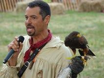 Le fauconnier médiéval 22 du festival 2016 Photographie stock