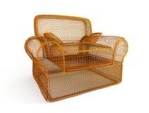 Le fauteuil classique 3d conceptuel rendent Images libres de droits