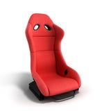 Le fauteuil rouge sportif 3d d'automobile rendent sur un fond blanc Photographie stock libre de droits