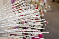 Le faux en plastique fleurit les fleurs colorées Photos stock