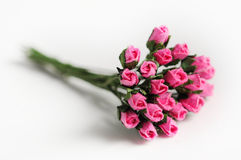 Le faux s'est levé, profondeur de rose de tissu de champ (le foyer mou) Image libre de droits