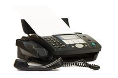 Le fax noir a isolé photo libre de droits