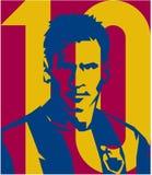 Le FC BARCELONA de Lionel Messi de footballer dirigent le portrait d'isolement illustration stock