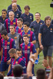 Le FC Barcelona team la présentation Image libre de droits