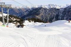 Le Fellhorn en hiver Alpes, Allemagne Photographie stock libre de droits