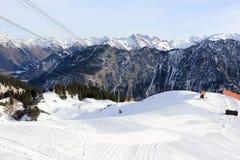 Le Fellhorn en hiver Alpes, Allemagne Photos stock