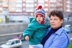 Le femme avec l'enfant Photographie stock