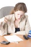 Le femme d'affaires affiche III Images libres de droits