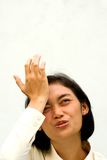 Le femme d'affaires oublient et regrettent Photographie stock libre de droits