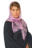 Le femme dans une écharpe Image stock