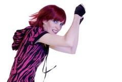 Le femme saute Photo libre de droits