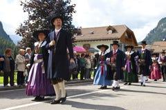 Le fest folklorique de Ladina, Italie du nord Photographie stock libre de droits