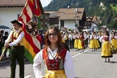 Le fest folklorique de Ladina, Italie du nord Photos libres de droits