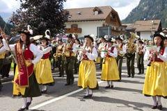 Le fest folklorique de Ladina, Italie du nord Photo libre de droits
