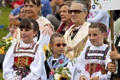 Le fest folklorique de Ladina, Italie du nord Image stock