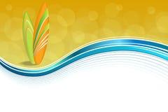 Le feste astratte della costa di mare del fondo progettano il giallo blu della spiaggia verde arancio dei surf Immagini Stock