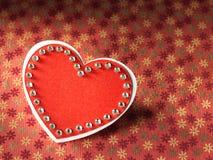 Le feste cardano con amore ed il cuore di parola Fotografie Stock Libere da Diritti