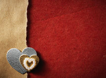 Le feste cardano con amore ed il cuore di parola Fotografia Stock Libera da Diritti