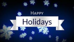 Le feste felici mandano un sms a contro il fondo dei fiocchi di neve illustrazione vettoriale