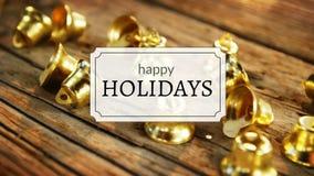 Le feste felici mandano un sms a e campane di Natale illustrazione vettoriale
