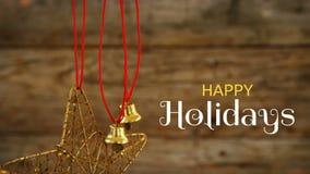 Le feste felici mandano un sms a e campane di Natale royalty illustrazione gratis