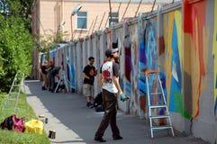 Le festival annuel du graffiti à St Petersburg Images libres de droits