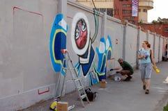 Le festival annuel du graffiti à St Petersburg Photos libres de droits