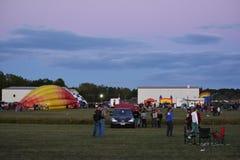 Le festival 2016 chaud de ballon à air d'Adirondack Image libre de droits