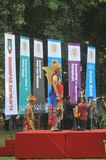 Le festival célèbre le tourisme de jour du monde en Indonésie Photographie stock libre de droits