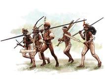 Le festival culturel du ` Papouasie Indonésie de Lembah Baliem de ` illustration stock