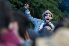 Le festival d'arbre de Larmer, Tollard royal, WILTSHIRE, R-U Images libres de droits