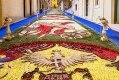 Le festival de fleur de Noto en Sicile Image stock