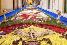Le festival de fleur de Noto en Sicile Photos stock
