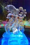 Le festival de glace-lanterne de dauphin Photos libres de droits