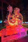 Le festival de glace-lanterne de dragon Photographie stock