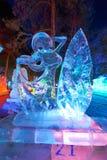 Le festival de glace-lanterne de fille Images stock