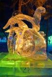 Le festival de glace-lanterne de serpent Image stock