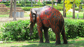 Le festival de Songkran est célébré avec des éléphants à Ayutthaya Photos stock