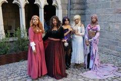 Le festival 2015 médiéval à la partie 28 de parc de Tryon de fort Photos stock