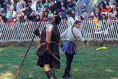 Le festival 2015 médiéval à la partie 67 de parc de Tryon de fort Photo libre de droits