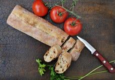 Le fette al forno del pane si chiudono su Fotografia Stock